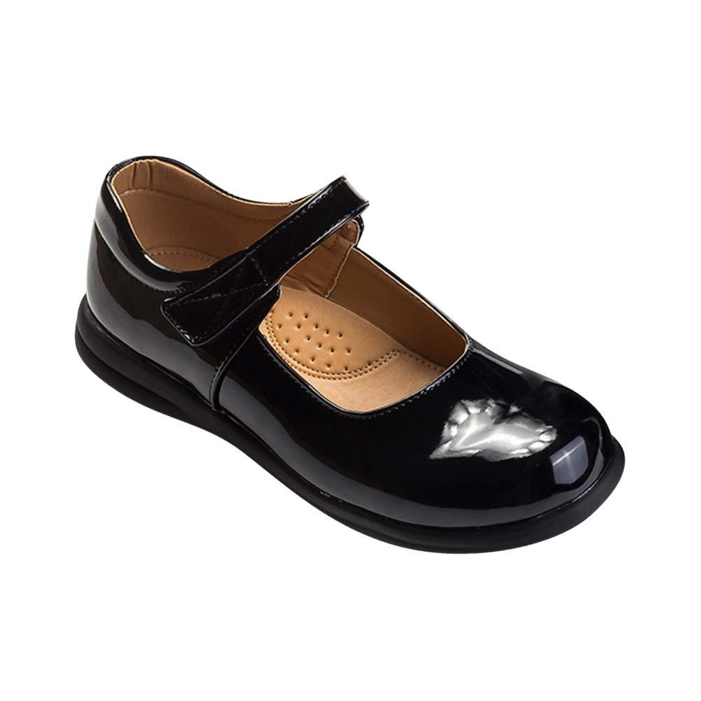 Daytwork Zapatos para Ni/ña Bailarinas Mary Jane Princesa Sweet Plano Ni/ñito Colegio Charol Ballet Fiesta de Moda Gancho y Lazo Bombas Sencillo Zapatillas