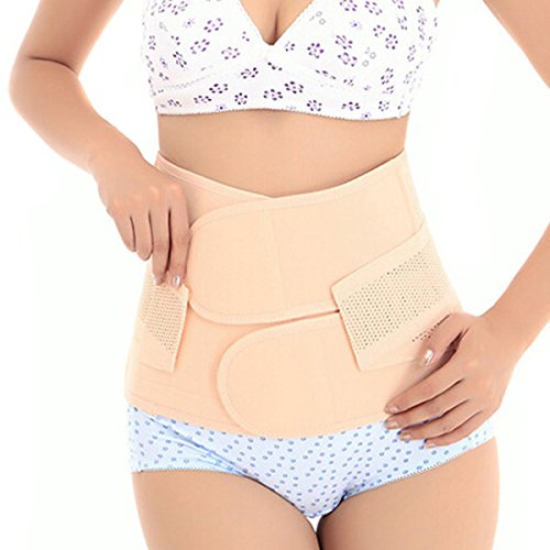 Zcargel Breathable Elastic Postpartum Postnatal Recovery Support Girdle Belt Post Pregnancy Belly Waist slimming shaper Wrapper Band Abdomen Abdominal Binder for Women and Maternity