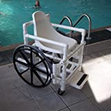 Aqua Creek Pool Access Chair : Molded Plastic Seat