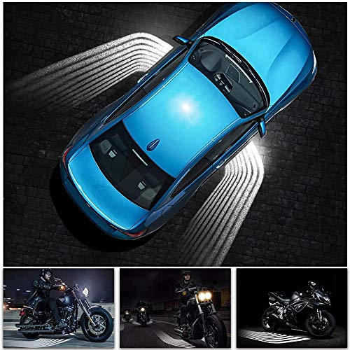 Festnight Welcome Light Ghost Shadow Light LED Rock Light Angel Wings Projector Light Car Door Exterior Light Carpet Ground Lamps for All Cars and Motorcycles (White Color LED 2Pcs) (Wing Door Kits)
