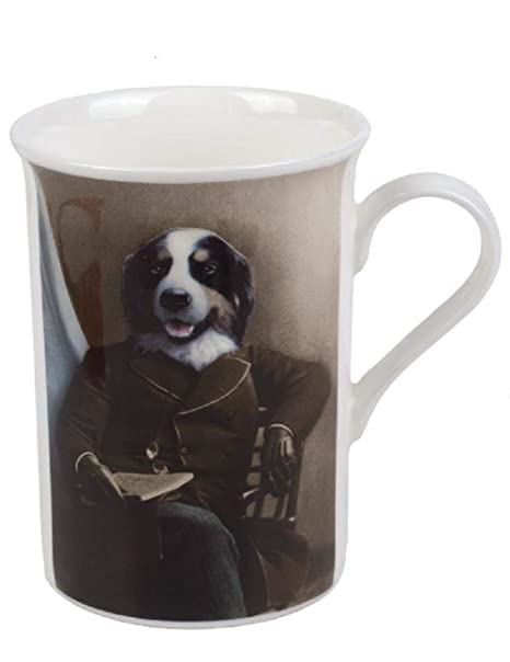Dignified Aristocratic Border Collie Dog Mug Victorian Trading Co Mr