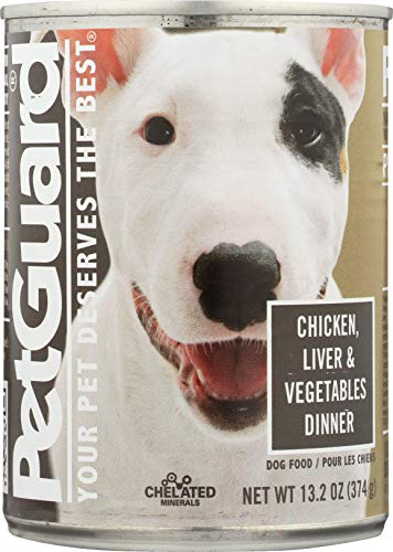 Pet Guard Liver, Vegetables & Wheat Germ Food For Dogs, 13.2-Ounce Cans, Case of 12)