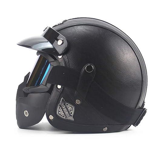 CARACHOME Casco Seguridad, Casco de Motocross, Motocicleta con ...