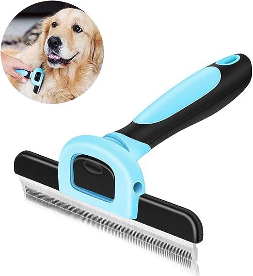 WENTS Peine para Mascotas Peine Perro Mascotas Cepillo Pet Dematting Comb Rastrillo de Aseo para Perros Grandes para Mascotas pequeñas Cepillo (Azul): Amazon.es: Productos para mascotas