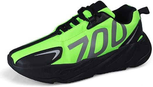 WOJIYU Ligero Hombres Zapatillas de Deporte del monopatín otoño Zapatos de los Zapatos Suaves y cómodos para Caminar con Estilo Zapatos de Alta Top Running (Color: Plata, tamaño: 39-44),Verde,41: Amazon.es: Hogar