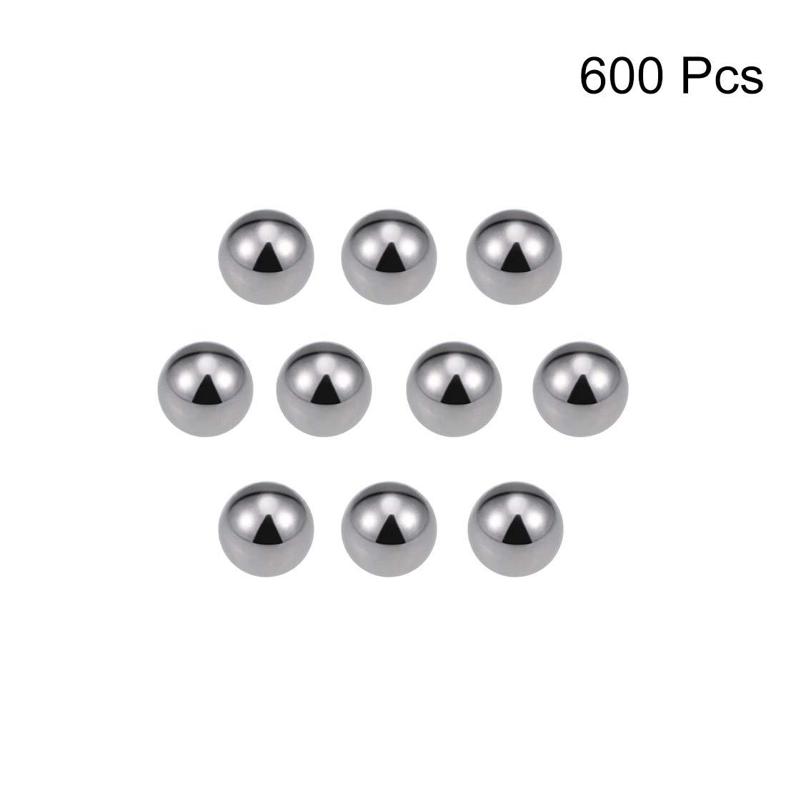 sourcing map 4,5mm Rodamiento de bolas de acero al carbono Bolas de precisi/ón 200uds