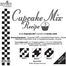 Moda Cupcake Mix Recipe Foundation Paper Pattern Pad #3