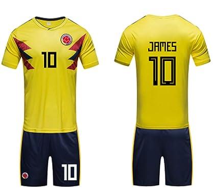 promo code d3a41 2f194 LISIMKE Soccer Team 2018/19 Colombia James Rodríguez 10 Home ...