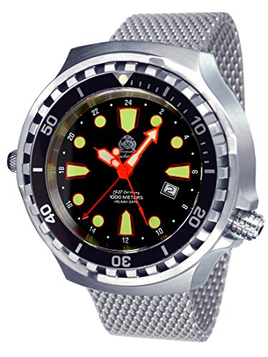 Tauchmeister men`s Big size diver watch - Swiss GMT movement T0301MIL