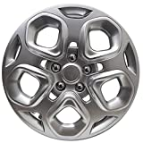 Hubcap for Ford Fusion (Single Piece) Wheel Cover - 17 Inch Silver Replacement