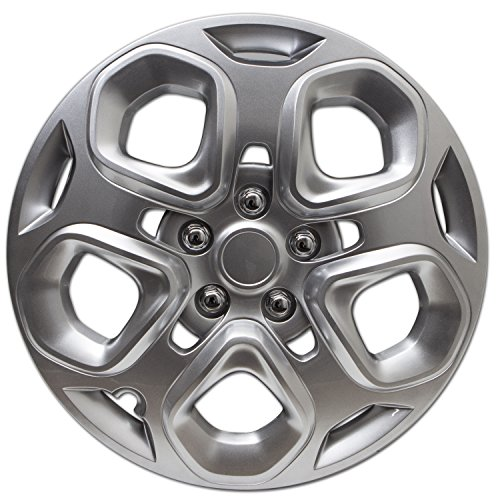 2010 Single - Hubcap for Ford Fusion (Single Piece) Wheel Cover - 17 Inch Silver Replacement