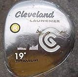 Cleveland Launcher Titanium Fairway Wood 7 Wood 7W 22 Fujikura Launcher Gold Graphite Regular Right Handed 42.75 in