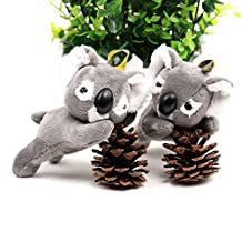 Osye Stuffed Animals Coala Plush Car Key Chain Bag Hanging Ornaments Koala Bear Cellphone Pendant