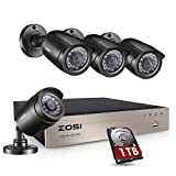 ZOSI 8Channel 720P H.264 CCTV DVR 4 Outdoor/Indoor ballet Color 1280TVL Security Surveillance