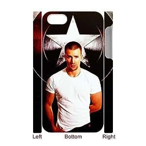 YananC(TM) YnaC248788 Custom 3D Hard Back Cover Case for Iphone 4,4S w/ Chris Evans