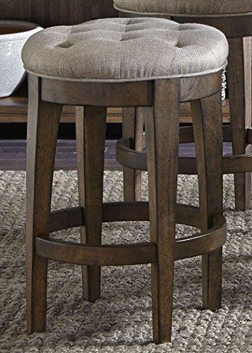 Liberty Furniture 411-B000124 Arlington House Dining Upholstered Backless Barstool, 17