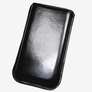 Duragadget-Funda de piel sintética con tapa para Samsung B7330 OmniaPRO L