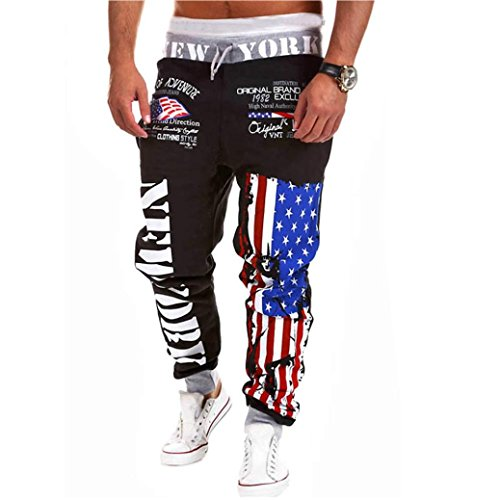 GBSELL-Men-Leisure-Trousers-Haren-Casual-Sport-Pants-National-Flag-Stars-Letter-Pants