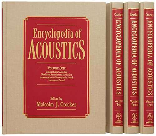 4 Volume Set, Encyclopedia of Acoustics by Wiley-Interscience