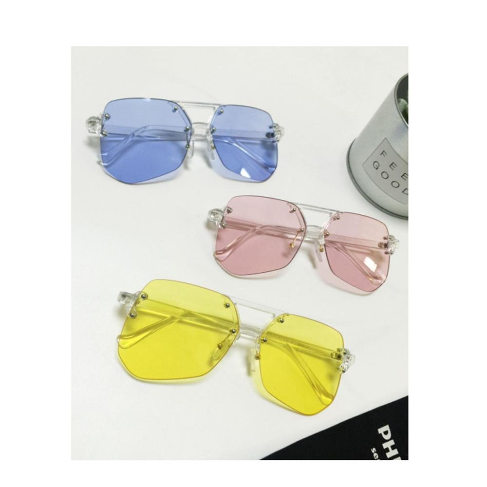 Zamp;YQ Sonnenbrille ohne Rand transparente Linse große Rahmen ...