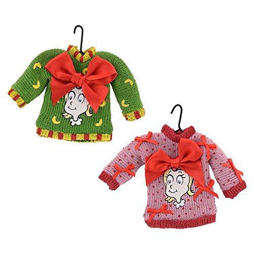 Department 56 Grinch Cindy Face Sweater Ornament