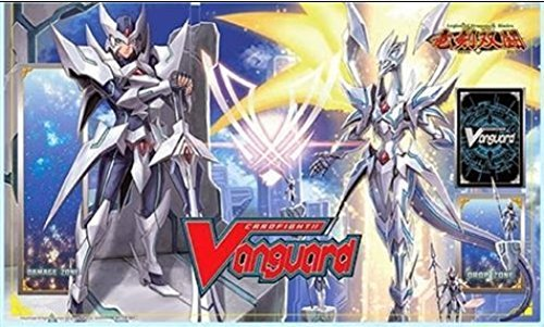 LIMITED EDITION Blaster Blade Seeker & Thing Saver Dragons PLAYMAT - Cardfight Vanguard English Legion of Blades BT16 from Booster (Vanguard Computer Case)