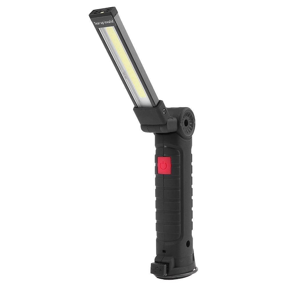 trendyest zusammenklappbar COB Taschenlampe Outdoor Haken Lampe USB aufladbare LED-Arbeitsleuchte, A