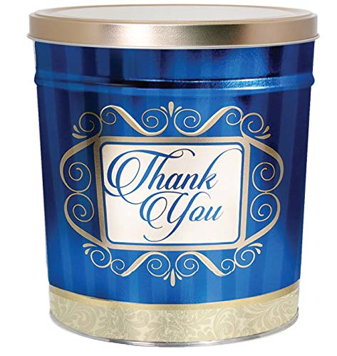 C.R. Frank Popcorn - Gourmet Popcorn Tin, 3.5 Gallon, Golden Thank You (2 Way, Butter and Cheese) ()