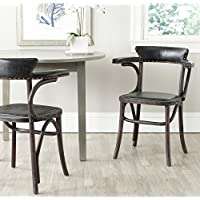 Safavieh Mercer Collection Kenny Arm Chair, Antique Black