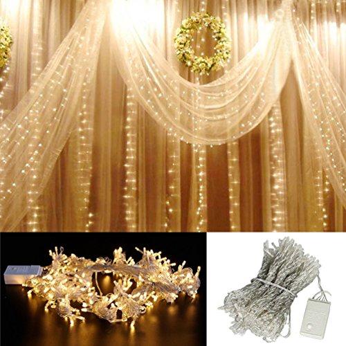 NuoYo LED Hochzeit-Vorhang-Leuchten Eiszapfen Licht CE-Zertifizierung Mit Heck-Stecker Spannung 220V für Hochzeit Dekorationen Festdekorationen Warmweiß