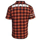FOCO NFL Men's Color Block Short Sleeve Flannel