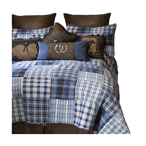 Carstens, Inc Ranch Hand 5 Piece Cotton Quilt Bedding Set, King,