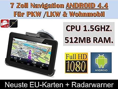 17,8 cm 17.78 cm con Android 4.4 PKW, GPS, navegador GPS,