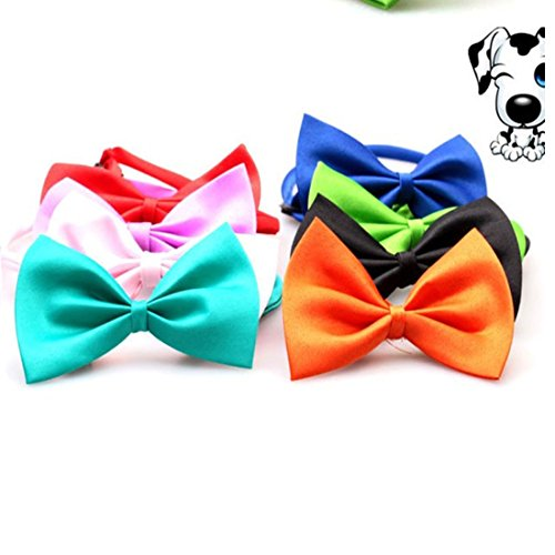 Kredy 8pcs/pack New Pet Dog Bowties Dog Collar neckties Dog Ties Adjustable Pet Grooming Products Dog Accessories Cute (Thanksgiving Costumes For Dogs)