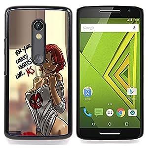 - sexy lingerie chick babe woman honey - - Modelo de la piel protectora de la cubierta del caso FOR Motorola Verizon DROID MAXX 2 / Moto X Play RetroCandy