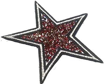 Stern Aufbügler Bügelbilder Sticker Iron on Patches Applikation zum
