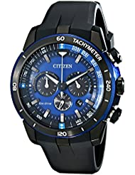 Citizen Eco-Drive Mens CA4155-12L Ecosphere Analog Display Black Watch