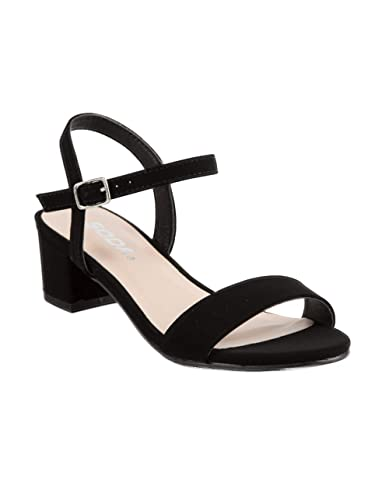 90685437be7 Amazon.com | SODA Ankle Strap Girls Heeled Sandals | Sandals