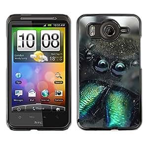 Qstar Arte & diseño plástico duro Fundas Cover Cubre Hard Case Cover para HTC Desire HD / G10 / inspire 4G( Cute Monster Creature Furry Spider Animal)