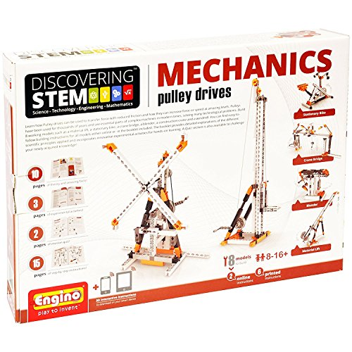 Engino Discovering STEM Mechanics Pulley Drives Construction Kit (Bridge Construction Set)