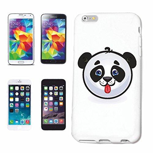 """cas de téléphone iPhone 7S """"HEUREUX PANDA BEAR ROUGE LANGUETTE SMILEY """"SMILEYS SMILIES ANDROID IPHONE EMOTICONS IOS grin VISAGE EMOTICON APP"""" Hard Case Cover Téléphone Covers Smart Cover pour Apple iP"""