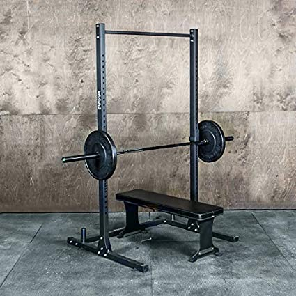24900891b77aab Amazon.com   Squat Rack with Pullup Bar   4  x 4  Footprint - 450lb Weight  Capacity Weightlifting Equipment for Squat