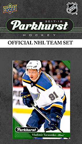 (St. Louis Blues 2017 2018 Upper Deck PARKHURST Series FaSealed Team Set including Vladimir Tarasenko, Paul Stastny, Ivan Barbashev Rookie Card plus)