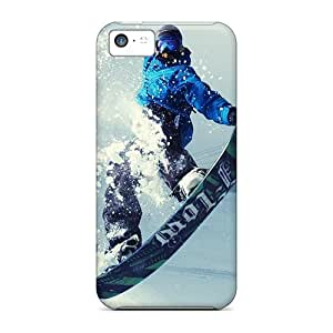 Excellent Cell-phone Hard Covers For Apple Iphone 5c (OWU4021UKVs) Allow Personal Design Colorful Snowboarding Jump Skin
