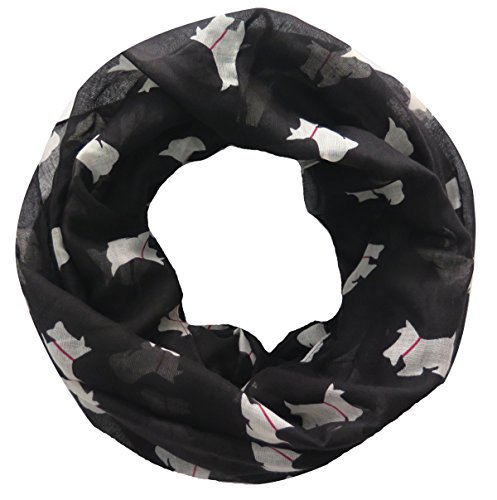 Lina & Lily Little Terrier Scottish Scottie Westie Dog Infinity Scarf (Large Size)