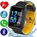 "1.3"" TF2 HD Screen Sport Smartwatch Fitness Tracker IP68 Waterproof Blood Pressure Heart Rate Monitor Pedometer Stopwatch Kid Men Women Wristband Activity Tracker iOS Android Christmas Holiday Gift"