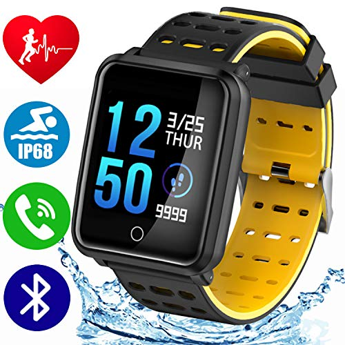 1.3 TF2 Sport Smart Watch Ip68 Waterproof Fitness Tracker with Blood Pressure Heart Rate Sleep Monitor Kids Pedometer Stopwatch Men Women Activity Tracker iOS Android Valentine Day Gift