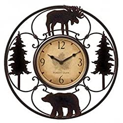 Wildlife Wire Wall Decoractive Clock 11 Total Diameter, 6 Clock Diameter