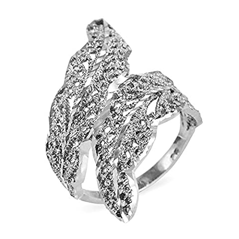 Filigree Laurel Wreath Leaf Ring in Fine 14k White Gold (Size 9.5) (Leaf Ring White Gold)
