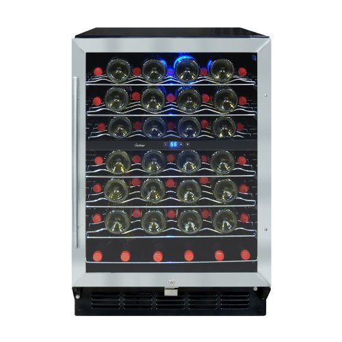 Vinotemp 58-Bottle Wine Cooler with Interior Display, (Vinotemp Wine Cooler)